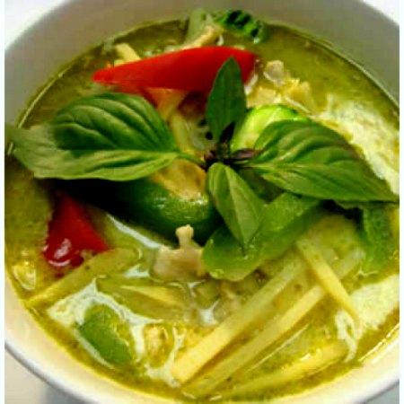 Kimtxu curry verde con pescado